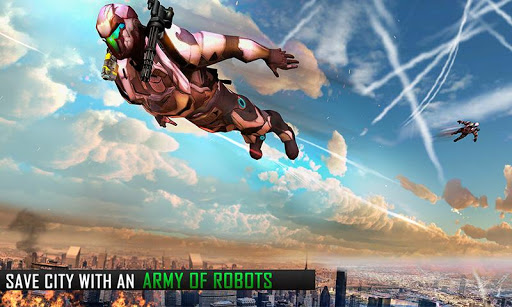 Flying Robot Grand City Rescue 3.7 screenshots 1