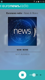 Euronews radio- screenshot thumbnail