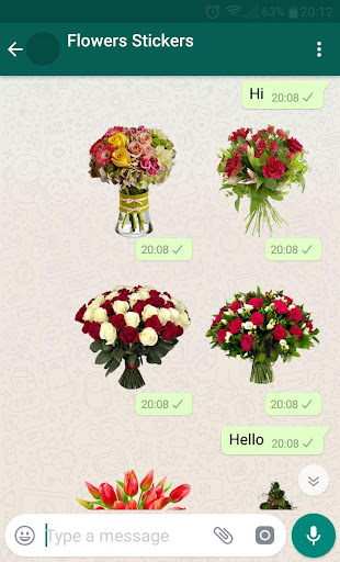 New WAStickerApps ud83cudf39 Flower Stickers For WhatsApp 1.3 screenshots 2
