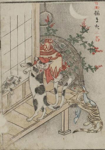 японский кот-призрак