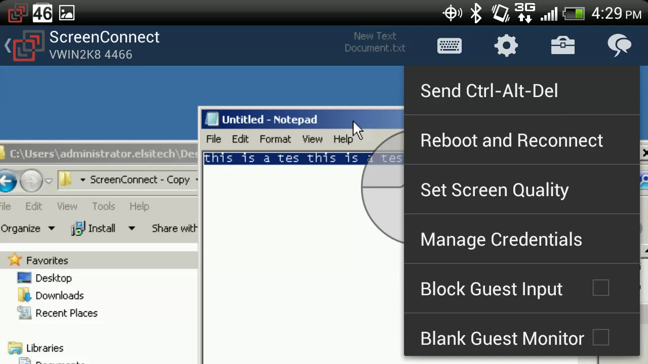 ScreenConnect for Samsung- screenshot