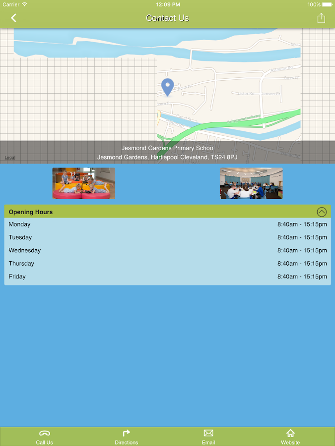 Jesmond Gardens Primary School- screenshot