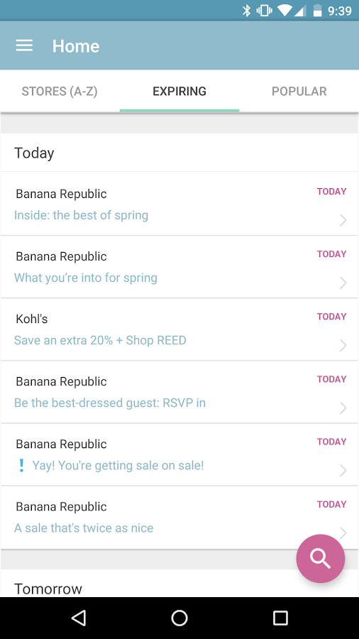 Shopami The email deals app- screenshot