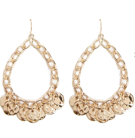 Forever21-TeardropCurbChainDropEarrings-Mina-Dupe