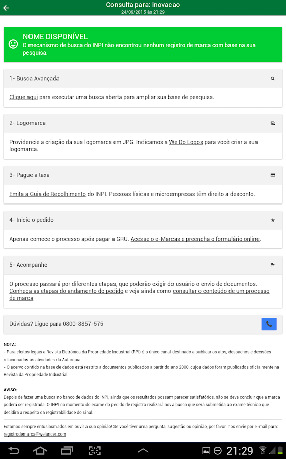 Registro de Marca- screenshot