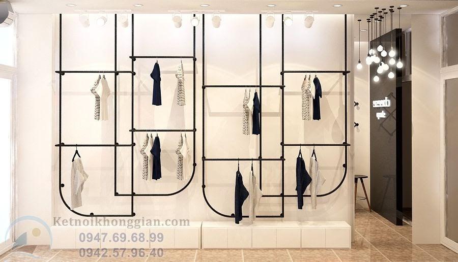 thiết kế cửa hàng thời trang cuốn hút ấn tượng tại Hà nội