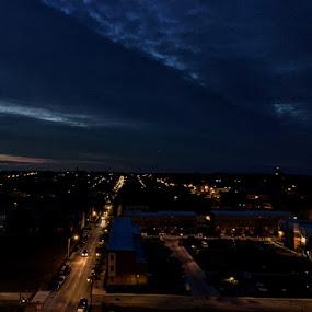 Charm City by Caleb Daniel - City,  Street & Park  Night ( lights, street, baltimore, night, city,  )