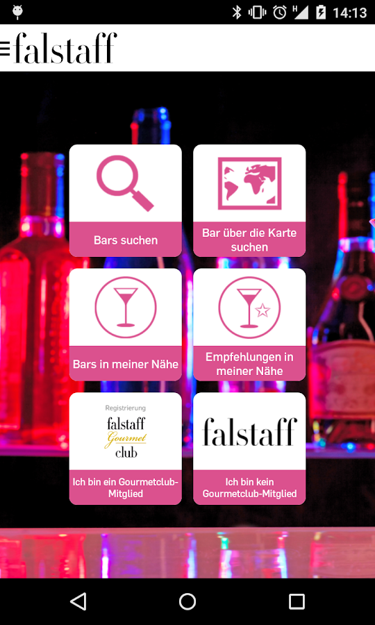 Barguide Falstaff- screenshot