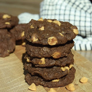 Chewy Chocolate PB Cookies.