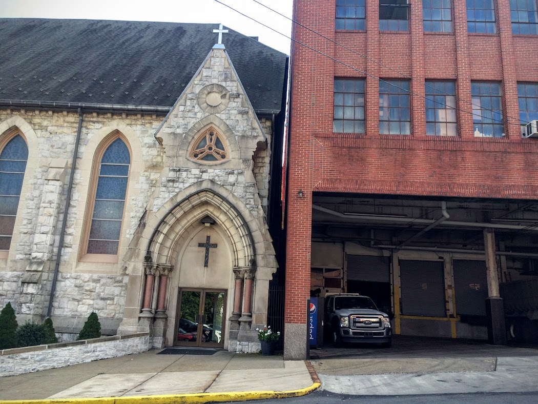 When they expanded the brewery, they got as close to the church as they possibly could...