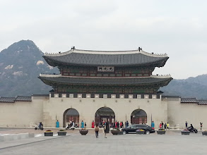Photo: Gwanghwamun Gate (The Main and South Gate) of the Gyeongbokgung Palace.