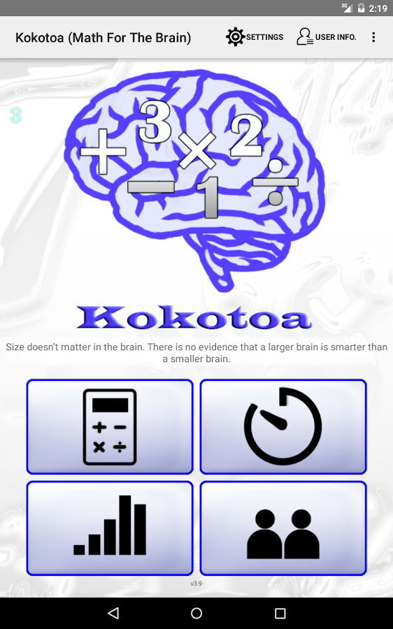 Kokotoa - Math For the Brain- screenshot