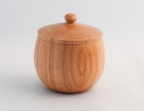 "Photo: Clif Poodry - Lidded Box - 3.5"" x 4.5"" - Honey Locust"