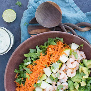 Shrimp Salad with Cilantro-Lime Ranch Dressing.