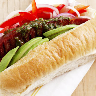 Chorizo Dog with Chimichurri