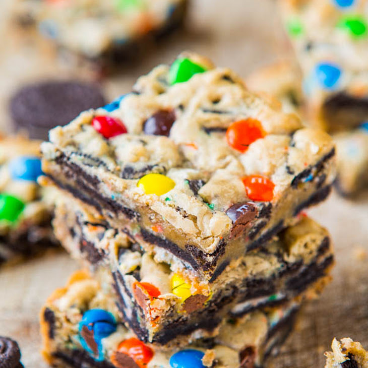 Loaded M&M Oreo Cookie Bars Recipe