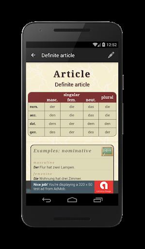 Deutsche Grammatik screenshot 1