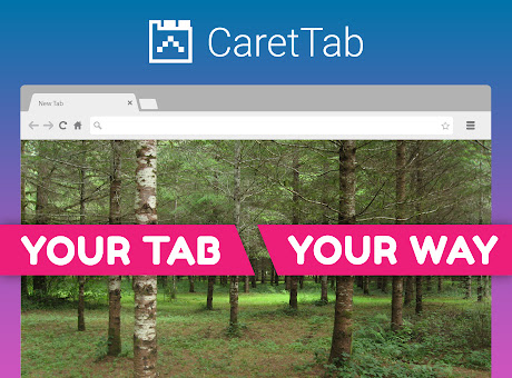 CaretTab - New Tab Clock and Date