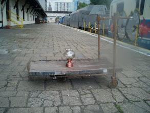 """Photo: fragmenty scenografii, próby projektu """"Miasto Syren / Nocny Pociąg"""" w dniu 10.07.2012; zdjęcie ntf"""