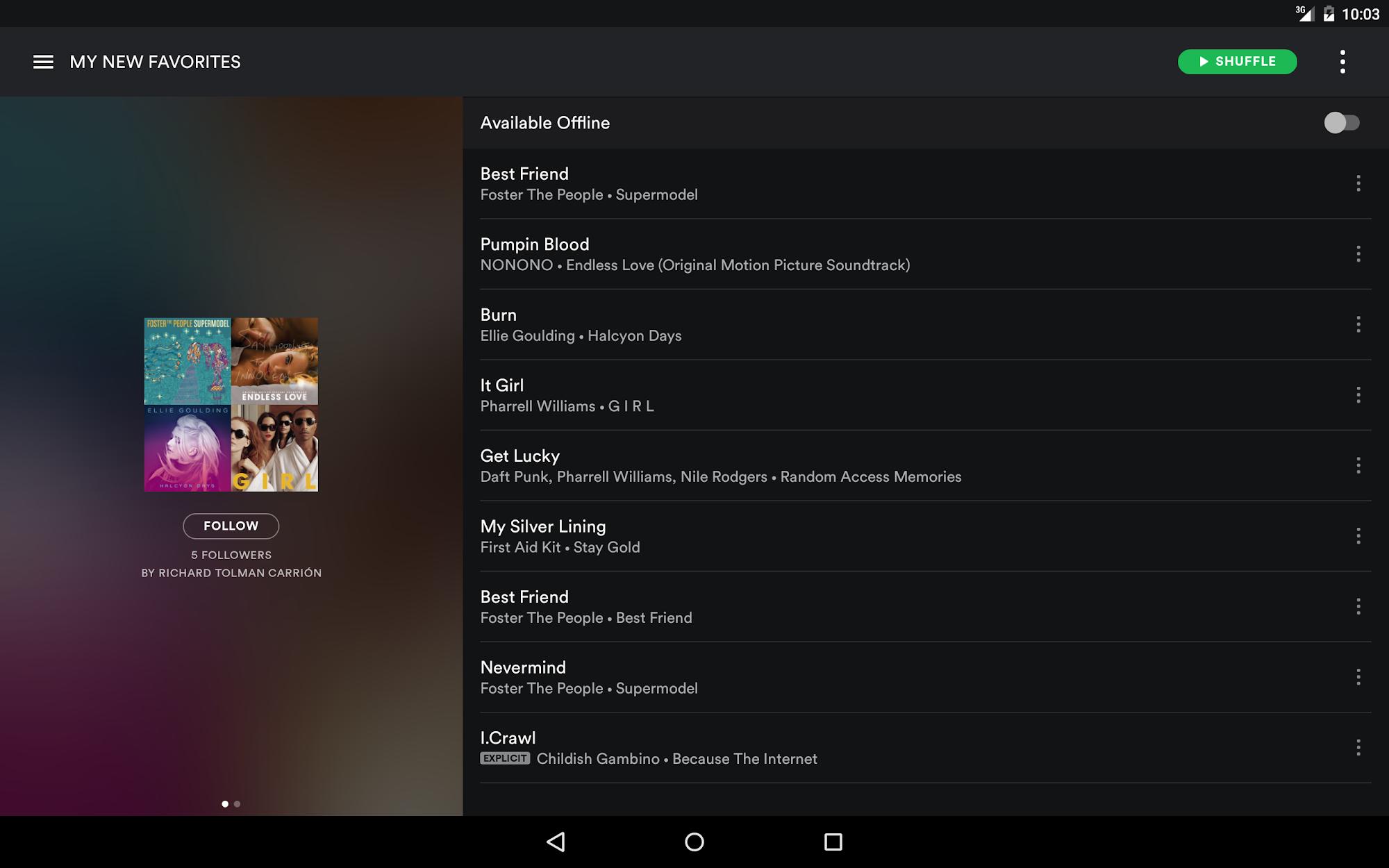 Spotify Music screenshot #7