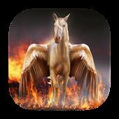 Pegasus on fire live wallpaper