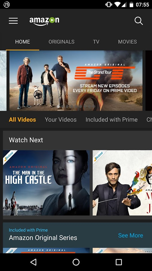 Amazon Prime Video – Capture d'écran