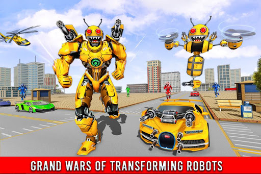 Bee Robot Car Transformation Game: Robot Car Games 1.0.7 screenshots 5