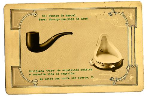 Conversaciones postales. Fontaine vs Pipe