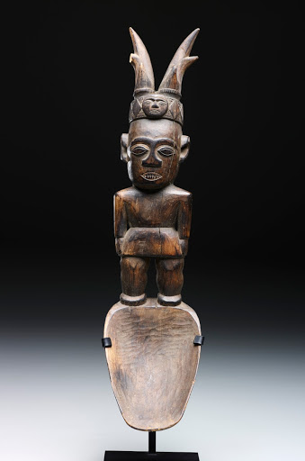 Spoon: Standing Male Figure with Horned Headdress