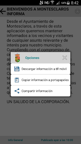android Montesclaros Informa Screenshot 2