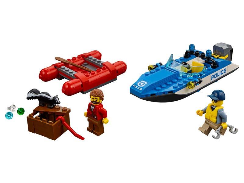 Contenido de Lego® 60176 Huida por Aguas Salvajes