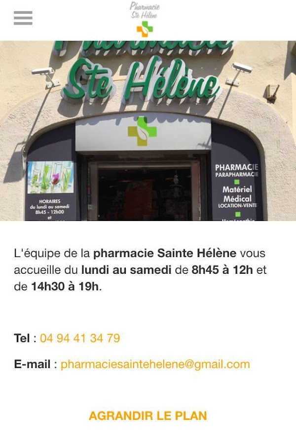 Pharmacie Saint Hélène Toulon – Capture d'écran