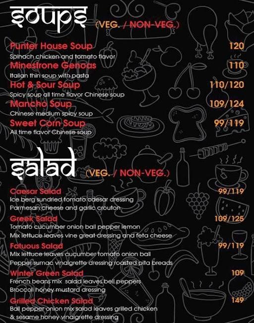 The Punter House menu 2