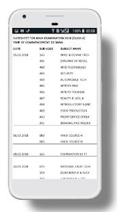 CBSE  Datesheet 2018 - náhled