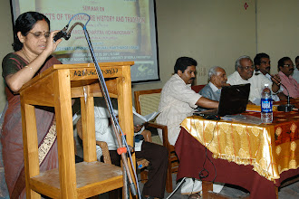 Photo: Welecome Speech : Dr.Vasumathi Devi (H.O.D, History Department, Kerala University)