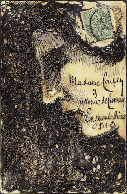 <p> <br /> <strong>L&eacute;on Coupey<br /> To Madame Coupey (Enghien</strong>)<br /> Ink on card<br /> 5 &frac12;&quot; x 3 &frac12;&quot;<br /> 1906</p> <p> Collection Annik Coupey-Smith, Eastbourne, UK<br /> Set 7A.5&nbsp;</p>