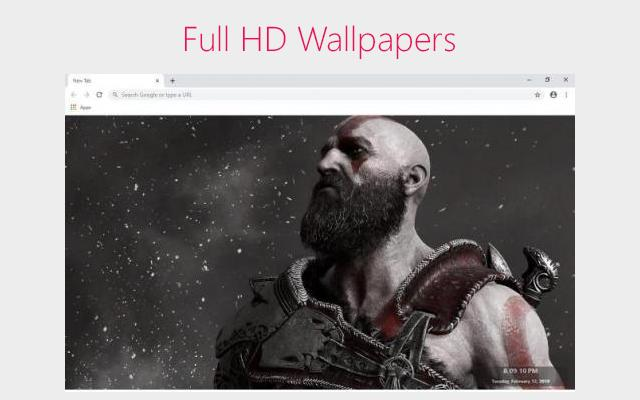 God of War Wallpapers and New Tab