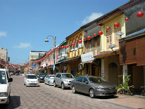 Photo: Row of old shophouses inside Kg Cina, Kuala Terengganu