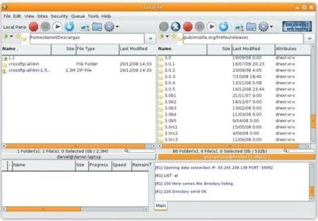 crossftp 1 52 1 Clientes FTP en Ubuntu: ¿cuál elijo?