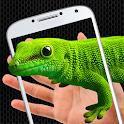 Lizard on hand funny prank icon