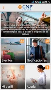 Eventos GNP screenshot