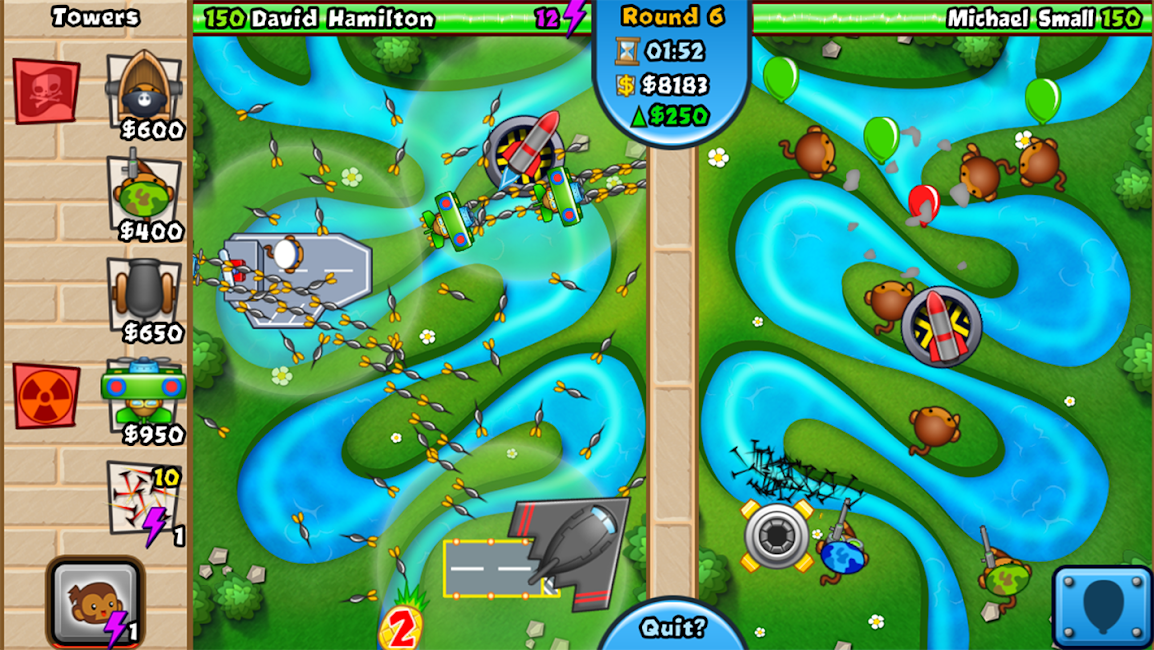 #9. Bloons TD Battles (Android)