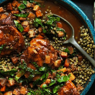 Braised Chicken With Lentils
