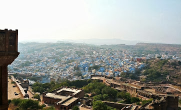 "Photo: A view from the top of the fort.  Jodhpur is known as the ""blue city""."