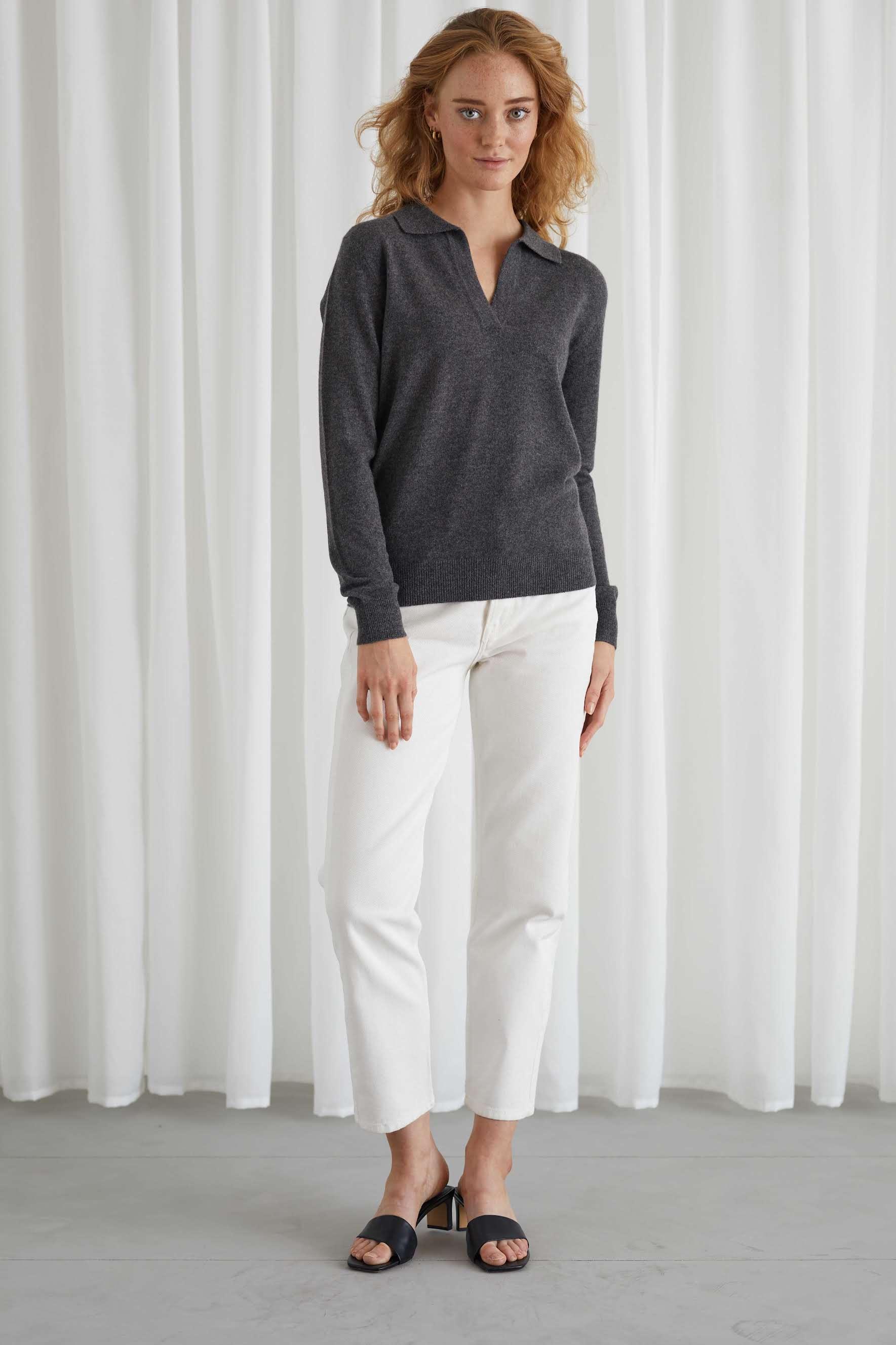 Open Collar Sweater