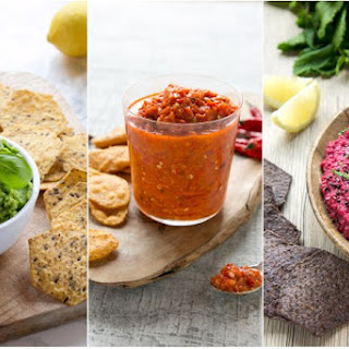 Beetroot and Mint Hummus.