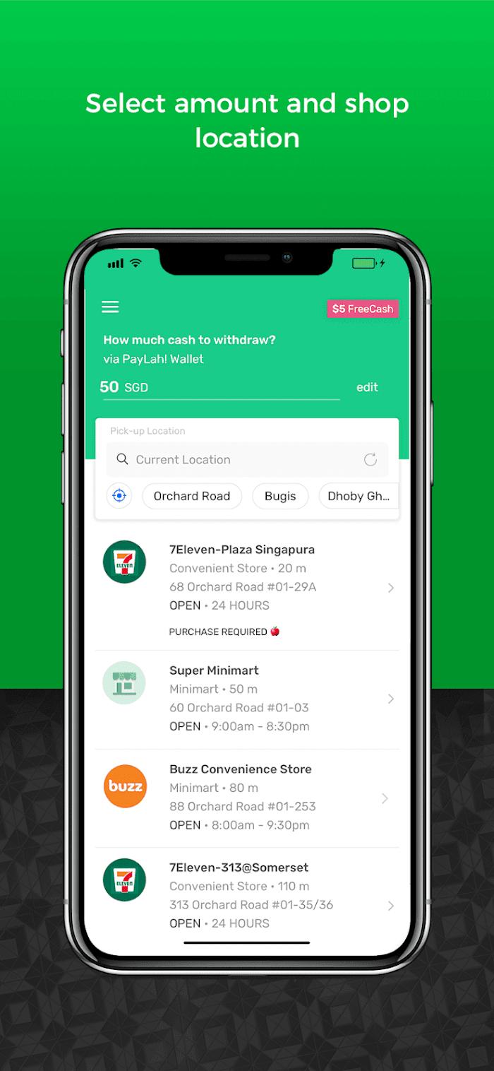 SoCash app in use