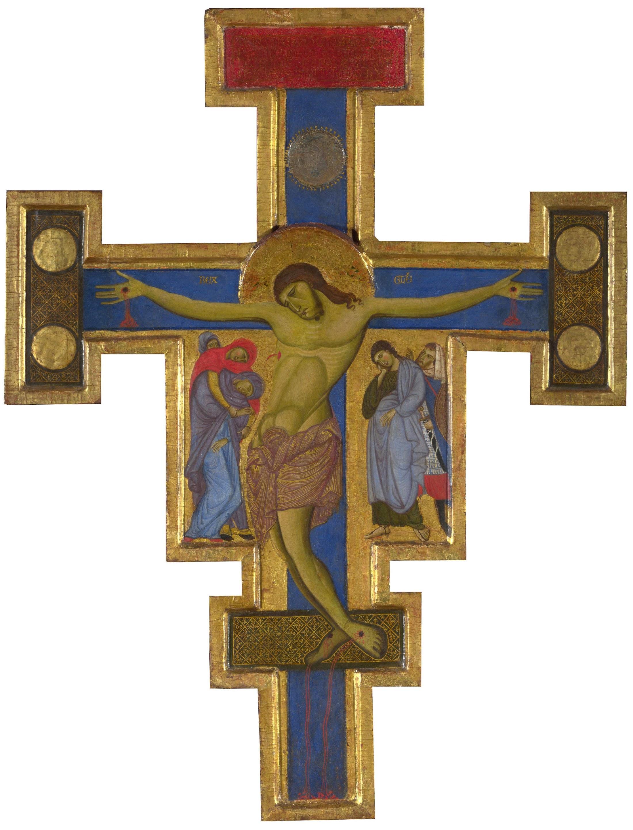 Crocifisso di Londra del Maestro di San Francesco, 1272-1285 circa, tempera e oro su tavola, 92,1 × 71 cm, National Gallery, Londra