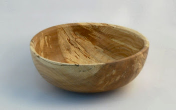 "Photo: Gary Nickerson - Bowl - 7"" x 5"" - Spalted Beech  [10.08]"
