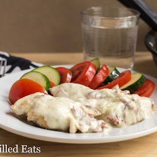 Easy Skillet Chicken Cordon Bleu.